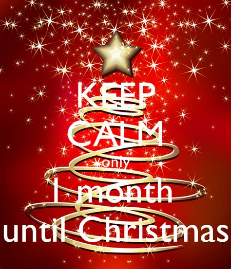 keep calm only 1 month until christmas poster ce keep
