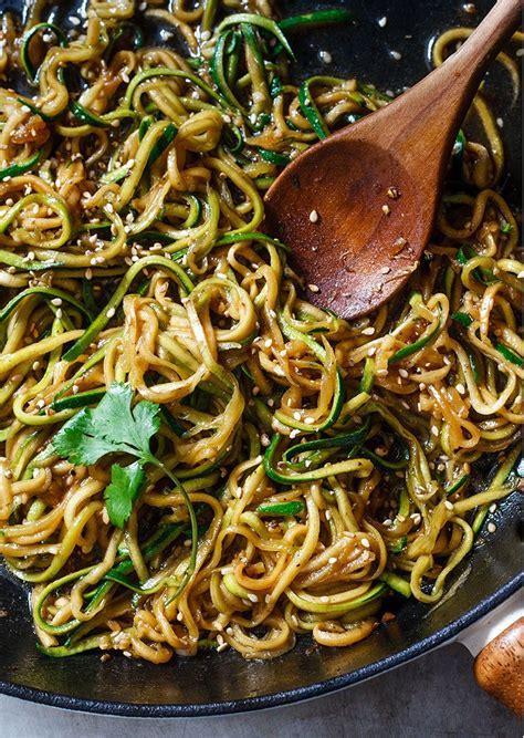 teriyaki zucchini noodles recipe eatwell