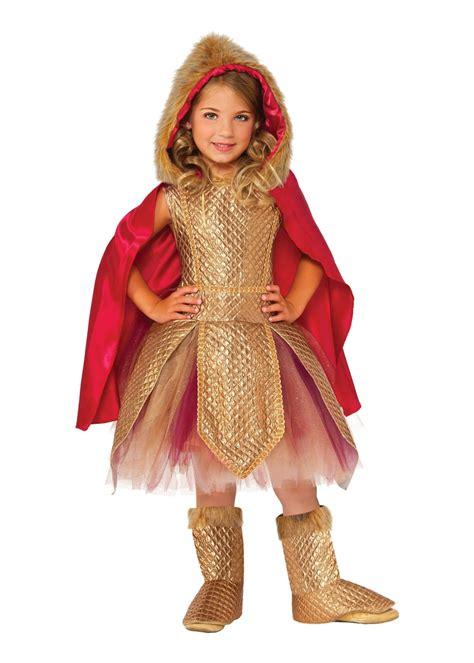 Golden Warrior Princess Girls Costume - Princess Costumes