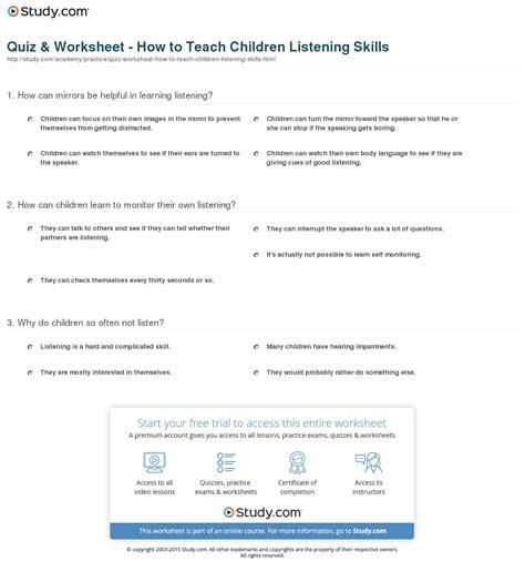 listening skills worksheet free worksheets library