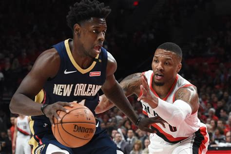 pelicans  blazers game  start time tv schedule