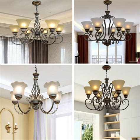 suspension chandelier 3 6 8 antique iron chandelier led suspension dining