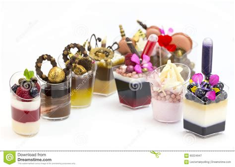 canape desserts dessert canapes stock image image of creuffs icecream