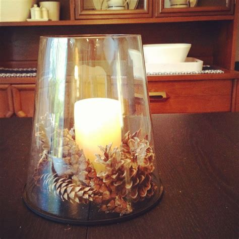 Table Decorating Ideas Candles Apples Autumn Indoor Outdoor Atmosphere 650x325 by Pine Cone Centerpiece The Wedding