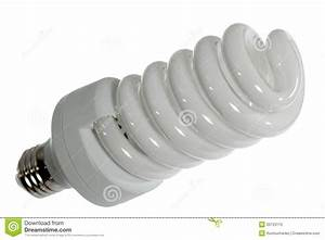 Fluorescent Light Bulb On A White Background Royalty Free ...