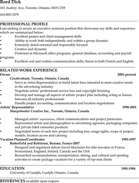 administrative assistant resume sle 1 for free
