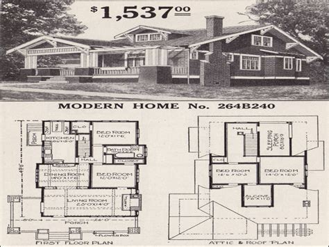sears bungalow  bedroom sears craftsman bungalow home plans craftsman style home floor