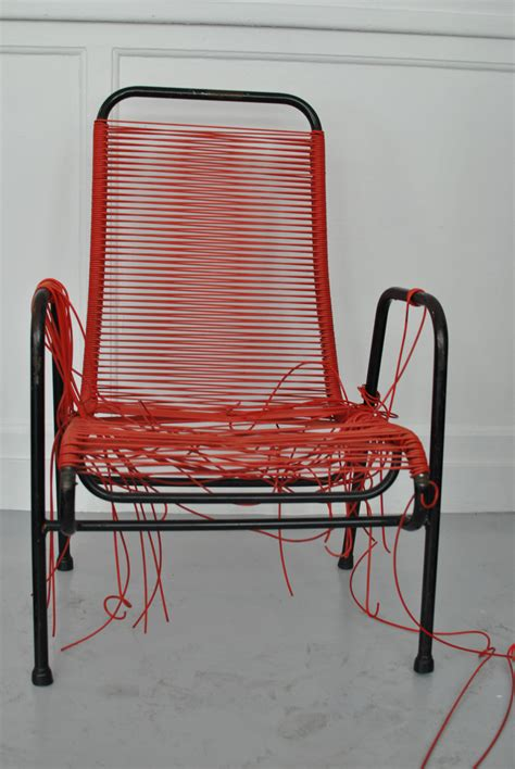 chaise en fil scoubidou mobilier scoubidou réparation des chaise en scoubidou la