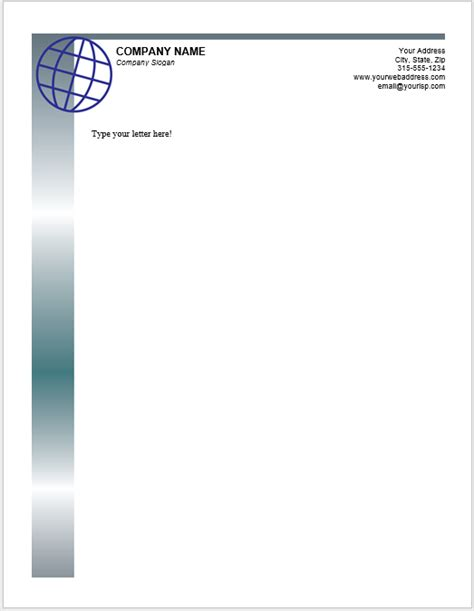 letterhead templates ms word templatehub