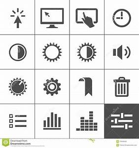 Settings Icon Set Stock Vector  Illustration Of Diagram