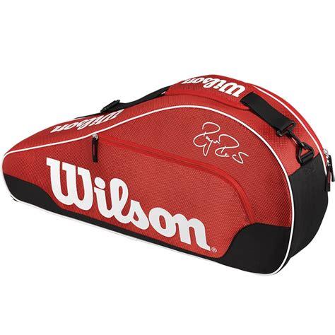 wilson federer team  pack tennis bag red
