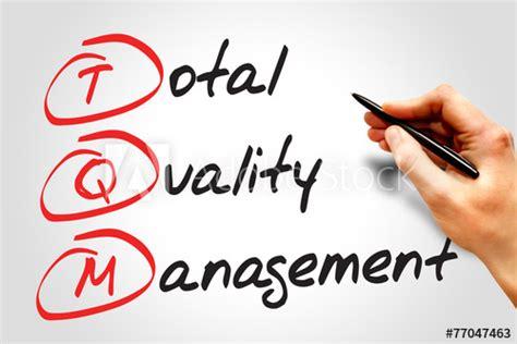 total quality management tqm business concept acronym