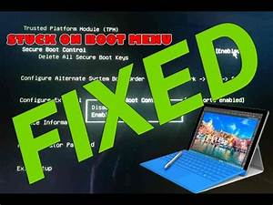 SURFACE 3 STUCK ON BIOS / RECOVERY [ FIXED] - YouTube