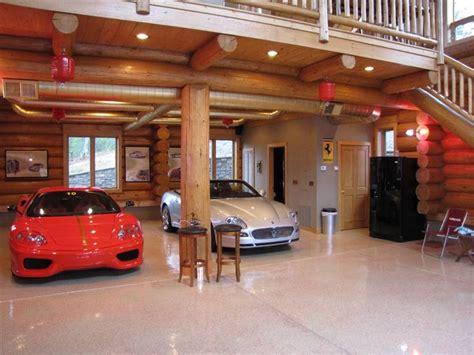 garage größe für 2 autos log cabin lower level garage log