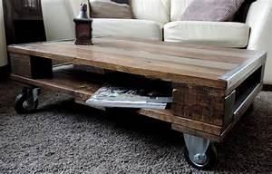 Table Basse Sur Roulette : table basse a roulette ~ Melissatoandfro.com Idées de Décoration