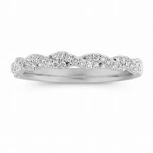 infinity twist pave set diamond wedding band shane co With infinity ring wedding band