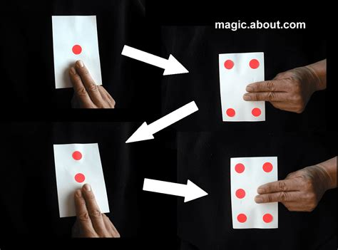 card tricks how to do the jumping dot trick
