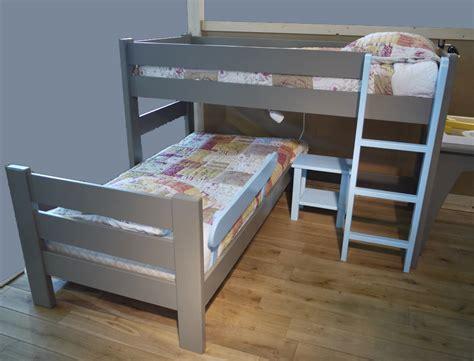lits superposes en l lit enfant mezzanine dominique mathys by bols secret de chambre