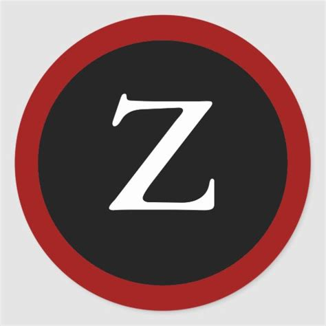 initial  letter  modern red black stickers zazzlecom