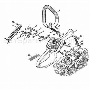 Stihl Ms 192 Chainsaw  Ms192c  Parts Diagram  Handle Housing