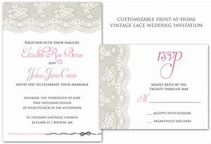 Vintage lace wedding invitations inspired by a for Wedding invitation template for sale
