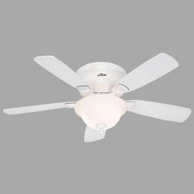 hunter low profile 48 in indoor white ceiling fan with