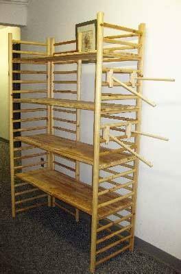 sided wood dowel shelf