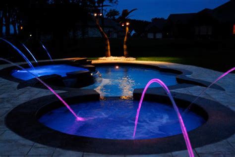 jandy laminar deck jets with led lighting pool water features