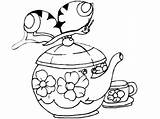 Coloring Pages Teapot Decorative Printable Getcolorings Clipart sketch template