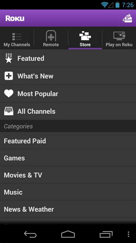 roku android app roku enhances android app with play on roku