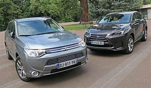 Avis Mitsubishi Outlander Phev : essai comparatif lexus nx 300h vs mitsubishi outlander phev ~ Maxctalentgroup.com Avis de Voitures