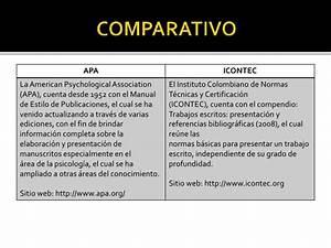 Portada Apa Comparaciones Entre Normas Apa E Icontec