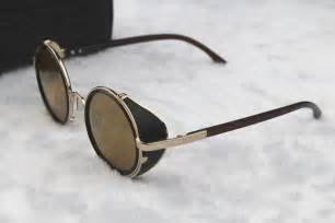yellow gold wedding rings steunk glasses gold brown with side shades