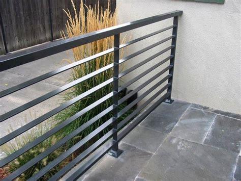 Interior Modern Grey Metal Balcony Railing With Stoned