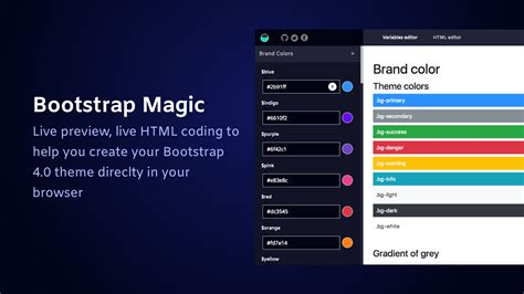 Bootstrap 4 Themes Bootstrap Magic 4 Generate Your Own Bootstrap 4 0 Theme