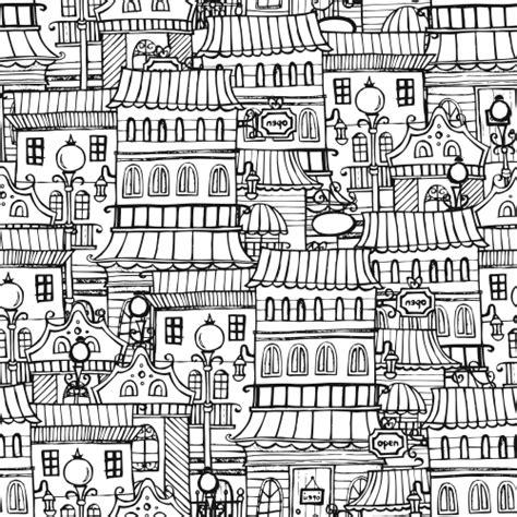 town houses coloring page kidspressmagazinecom