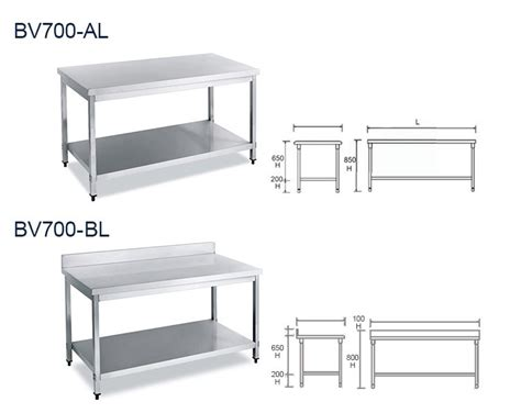 stainless steel work table with two shelves european style kitchen equipment commercial two shelves