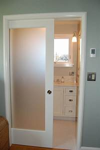 small and narrow modern minimalist bathroom closet design With frosted glass bathroom entry door