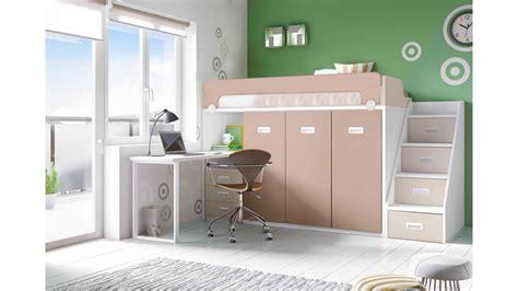 lit mezzanine avec bureau moderne et glicerio so nuit