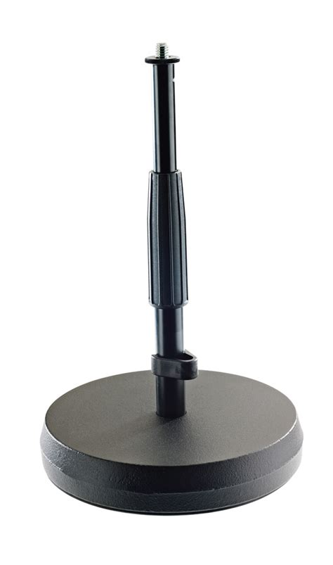 K&m 23325 Tablefloor Stand Round Castiron Base With Anti
