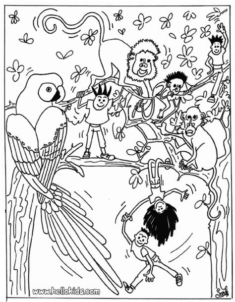 jungle animals coloring pages 9 jungle animals coloring pages