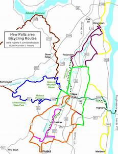 New Paltz Area Bicycle Routes -- Overview Map