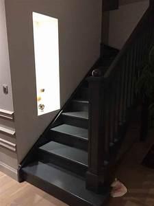 peindre escalier bois 2 couleurs meilleures images d With good peindre un escalier en blanc 2 comment repeindre facilement un escalier en bois