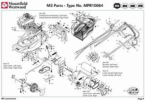 Mpr10064 Mountfield M3 Pre 2002 Machine Diagram For Spare