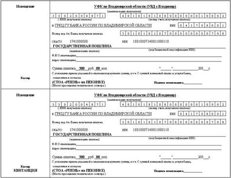 квитанция госпошлина на загранпаспорт старого образца с 1 января 2018