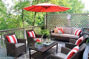 Outside Deck Furniture by Outdoor Living Deck Updates Our Fifth House