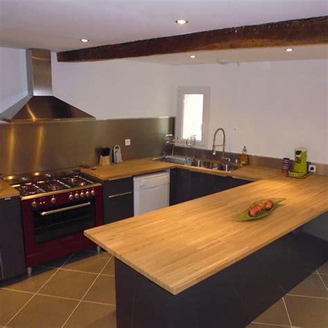 cuisine vieux bois plan de travail chene massif pour tous vos projets bois