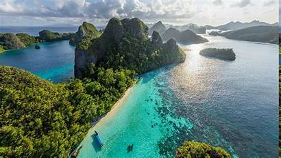 Indonesia Tropical Island Nature Beach Forest Sea