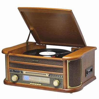 Record Player Retro Denver Radio Cd Cassette
