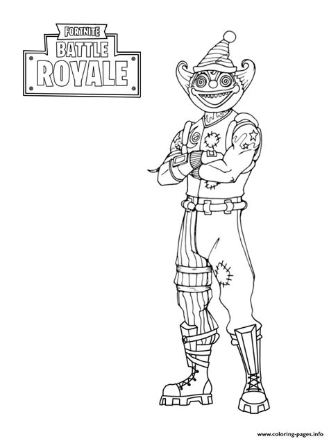 fortnite peekaboo outfit coloring pages printable
